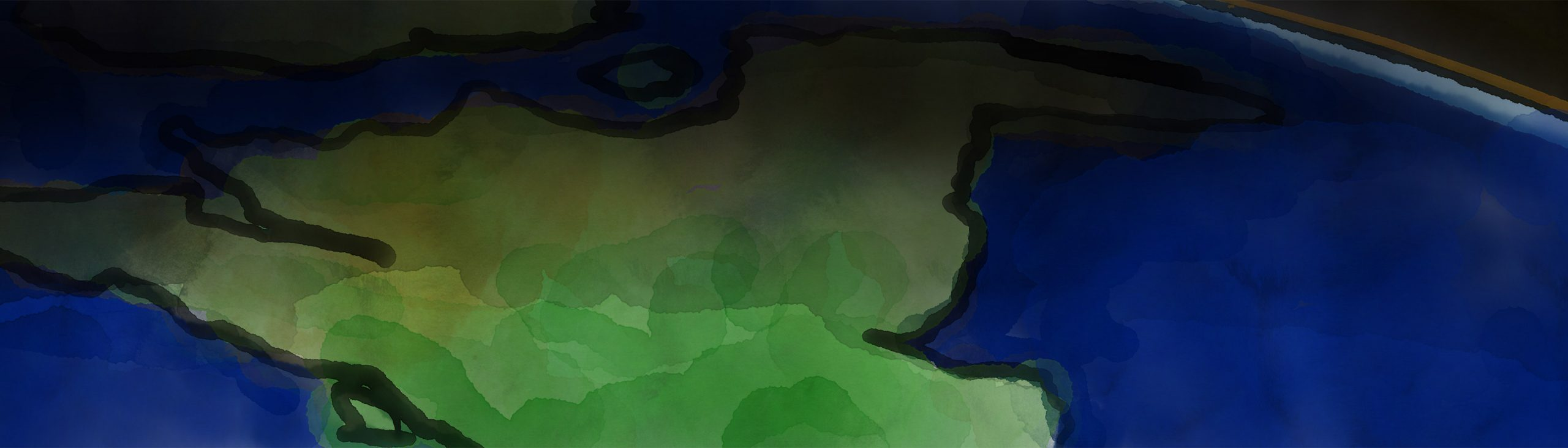Water colour earth, blog header image
