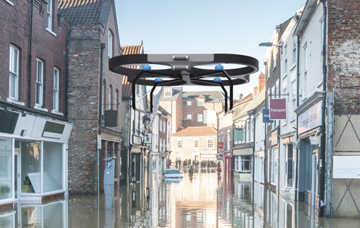 Flooded City Street sensor