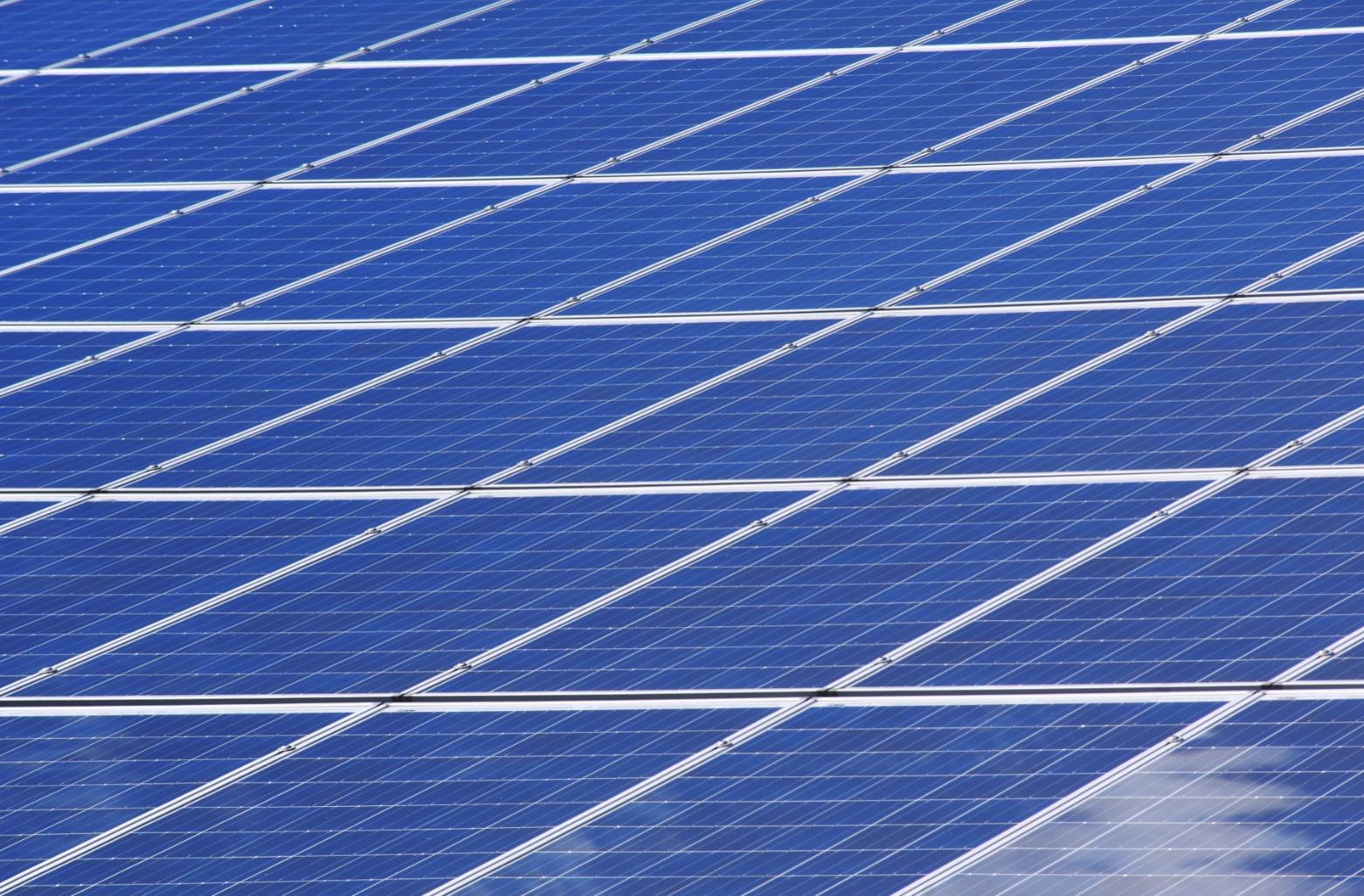 solar panels blue